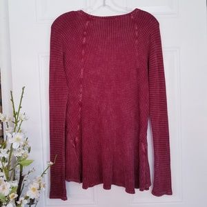 Abree Vintage Style Soft Thermal Top Sz S